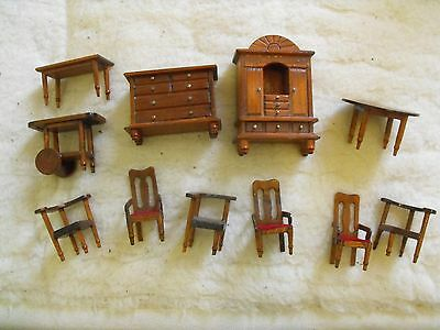 Job Lot of 1/24th Dolls House Furniture Tables Chairs Wardrobe etc.etc.
