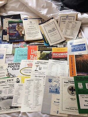 Large Rugby Union Programme Collection 1950s On Some Really Rare Issues Included