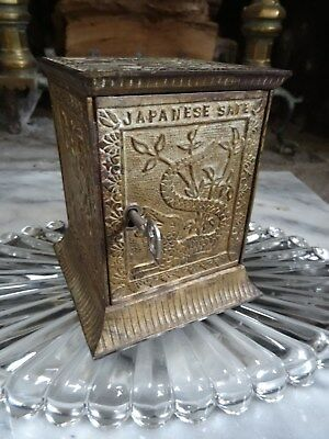 "CAST IRON BANK ""JAPANESE SAFE"" by Keyser & Rex 1882 Moore No. 883 Made in USA"