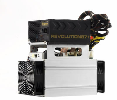 Antminer S7-LN 2.7TH/s Bitcoin Miner with 1000W Enermax Gold PSU and cables
