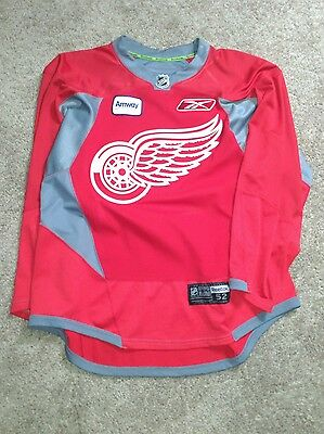 pro stock detroit red wings hockey practice jersey red 52