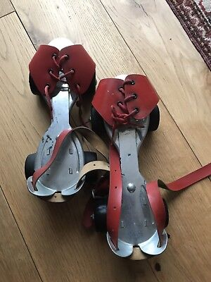 Vintage Jaco Roller Skates Red Pair Retro Complete With Key