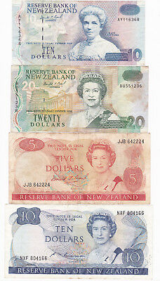New Zealand Paper Banknotes Bundle [Very Fine Condition] [F/ship]