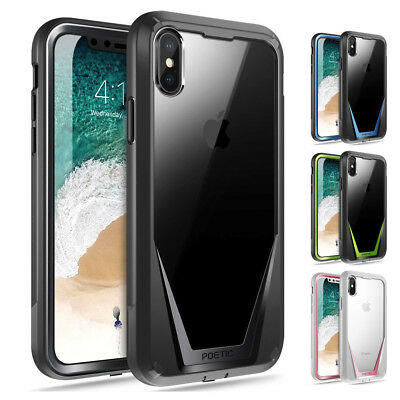 "Poetic Guardian ""Rugged Heavy Duty"" Case For iPhone X / iPhone XS 4 Color"