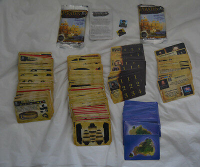 Pirates of the Spanish Main Lot - 151 Unpunched / 61 Punched Cards / 2 Packs