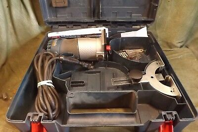 Bosch Modelpr20Evs Palm Router With Manual Wrenches Guide And 4 Used Bits In Box