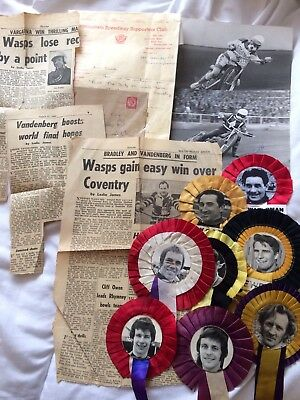 Small Interesting Speedway Collection Inc Photos Rosettes And Birmingham Letter