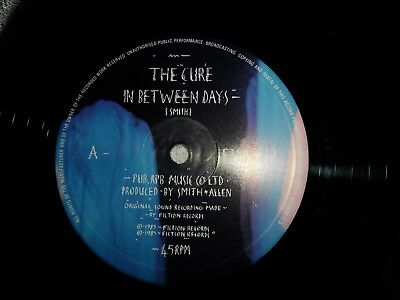 """THE CURE ,IN BETWEEN DAYS,   Rare  12""""SINGLE,  Record, GOTH,PUNK ,NEW WAVE."""
