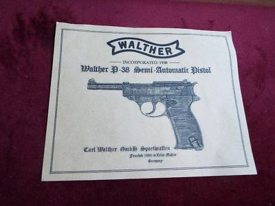 Reproduction Walther P-38  Case  Label