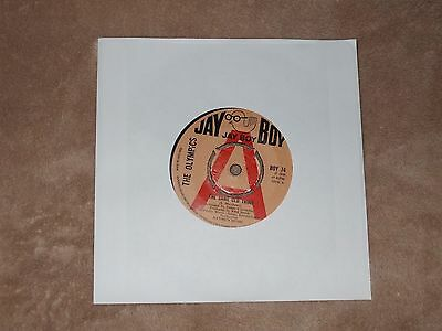 """""""~THE OLYMPICS~THE SAME OLD THING-jay boy records u.k 7""""  1966 -demo"""
