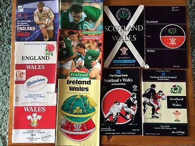 Interesting Wales Rugby Away Programme Collection Inc England France Ireland