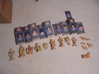 Lot FONTANINI Depose Italy NATIVITY and OTHER FIGURES with some BOXES (HI)