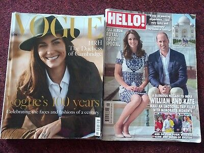 Vogue June 2016 and plus Hello both featuring Kate Duchess of Cambridge