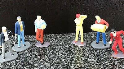 SCALEXTRIC TRACKSIDE PAINTED VINTAGE FIGURES x 6