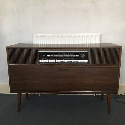 Vintage 1960s Retro Grundig Radiogram Stereo Record Player FULLY WORKING