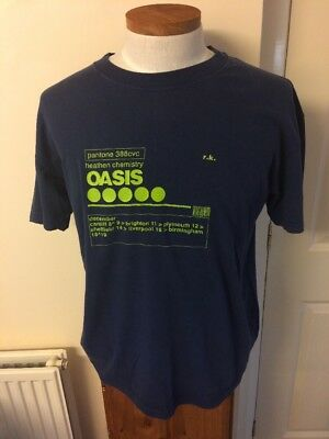 Oasis Official Tour Tee Shirt. Size Large. Heathen Chemistry. Liam Gallagher