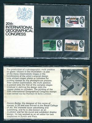 1964 GB Geographical Congress Presentation Pack. SG 651-654