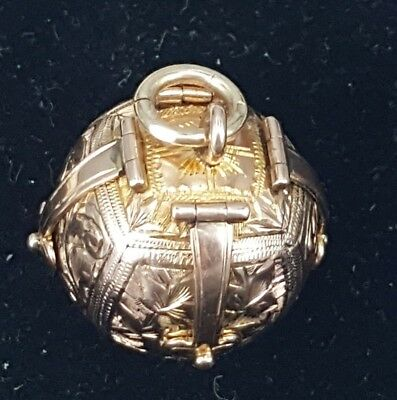 Antique Gold & Silver Masonic Orb/Ball