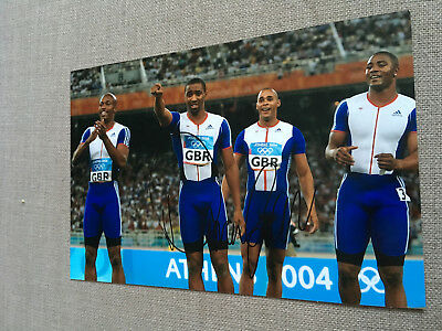 DARREN CAMPBELL ATHLETICS 100M OLYMPIC CHAMPION 12x8 AUTHENTIC HAND SIGNED PHOTO