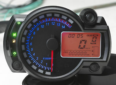 odometer and speedometer for cafe' racer with assembly instructions
