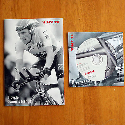2004 TREK Bicycle Owner's Manual w/ CD ROM LANCE ARMSTRONG Cover EX Cond