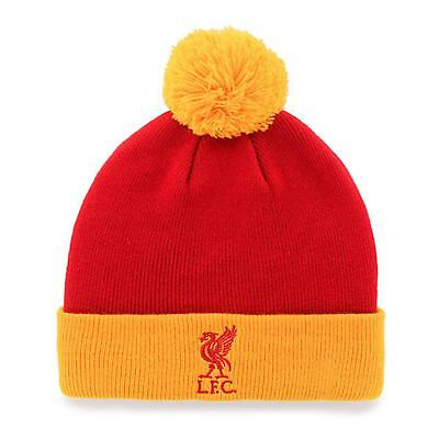 Liverpool F.C Knitted Turn Up Bobble Hat - Red Yellow