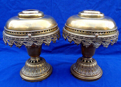 19th century pair of French NEUBURGER solar lamps with mechanisms, circa 1842