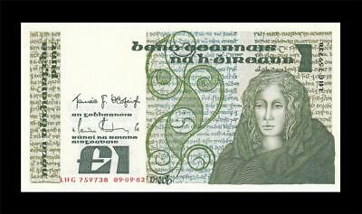9.9.1982 Central Bank Of Ireland 1 Pound (( Gem Unc ))