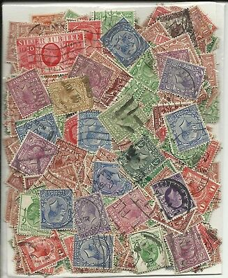 Gb George V - Over 400 Unchecked Used Stamps (See Below)