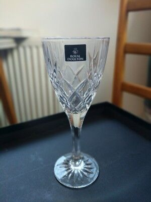 Royal Doulton Cicant Canterbury Crystal Wine Glasses - Set Of 6, never used