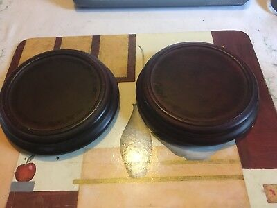 Wooden Vase/Ornament Stands X2