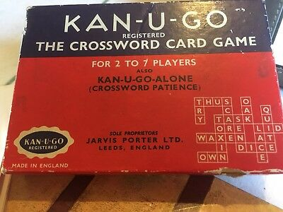 Vintage Kan U Go Card Game