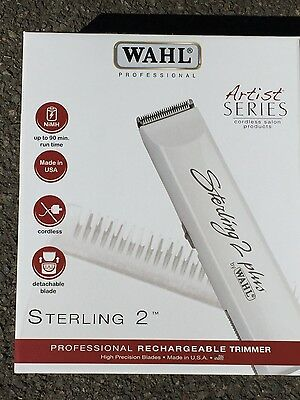 Wahl Sterling 2 Plus Professional Barbers Hair Trimmer (UK WHITE VERSION)