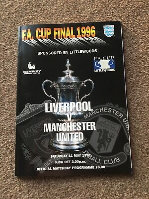 FA Cup Final Programme 1996 Liverpool V Manchester United