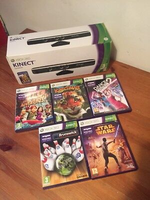 Xbox 360 Kinect Bundle. Boxed. 5 Games. Bargain @99p