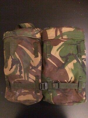 British Army Bergen Side Pouches With Yoke - 'Rocket Pouches' Cadets Airsoft