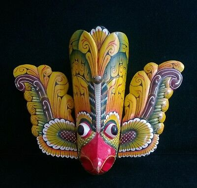 Vintage Hand Painted Wall Hanging Mask