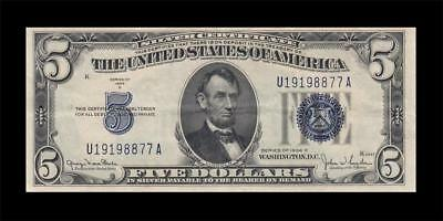 1934-D United States Silver Certificate $5 (( Ef ))