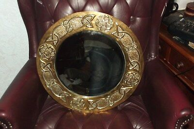 NICE Arts & Crafts Scottish Glasgow Celtic Brass Mirror Margaret Gilmour Ritchie