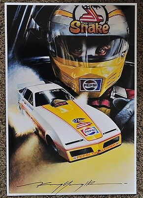 New Kenny Youngblood Signed Pepsi Don Prudhomme The Snake Funny Car Print
