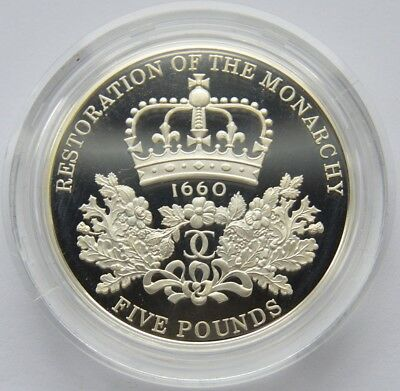 2010 Silver Proof £5 Restoration of the Monarchy