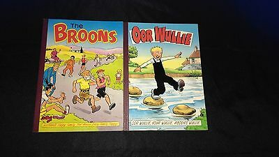 The Broons (1987) and Oor Wullie (1996) Vintage U.K Comic Paperback Books x 2