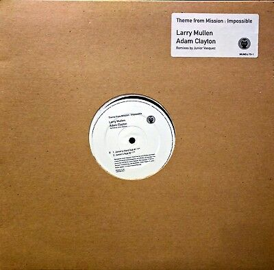 """Larry Mullen & Adam Clayton - Theme from Mission Impossible 12"""" Promo Vinyl"""