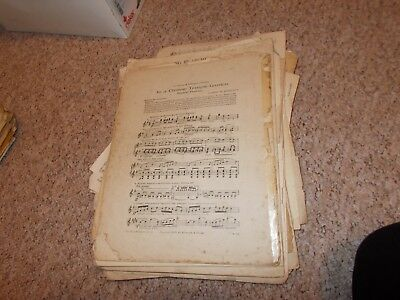 Job lot of vintage sheet music for crafts