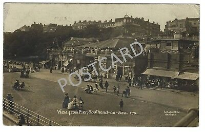 Early 1900s RP PC -  View from Pier, Southend-on-Sea, A H Judd photographer