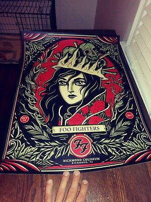 Foo Fighters Poster Richmond Coliseum VA SOLD OUT! 194 of only 300!