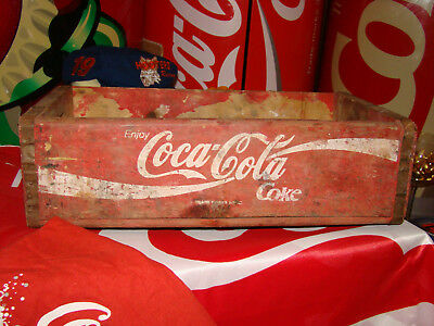 Coca Cola Holzkiste - Rot - Kult - Shaby Schick - Industrie-Look