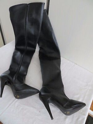 High Heel Womens Thigh Boots Black - Sexy, Pole Dancing, Club, Stripper, Size 4