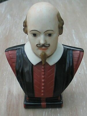 GOSS FIRST PERIOD WILLIAM SHAKESPEARE BUST COLOURED 158mm TALL STRATFORD ON AVON
