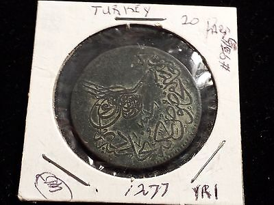 Turkish Coin - 1277- YR1 (1860)
